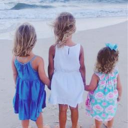 freetoedit remix colorful remixme remixit nature childhood girls beach ocean pcbarefoot