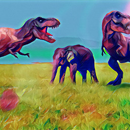 freetoedit t-rex elephant savana dinosaur ircelephant