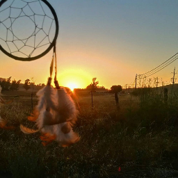 dreamcatcher myart sunset calidreamer diyart