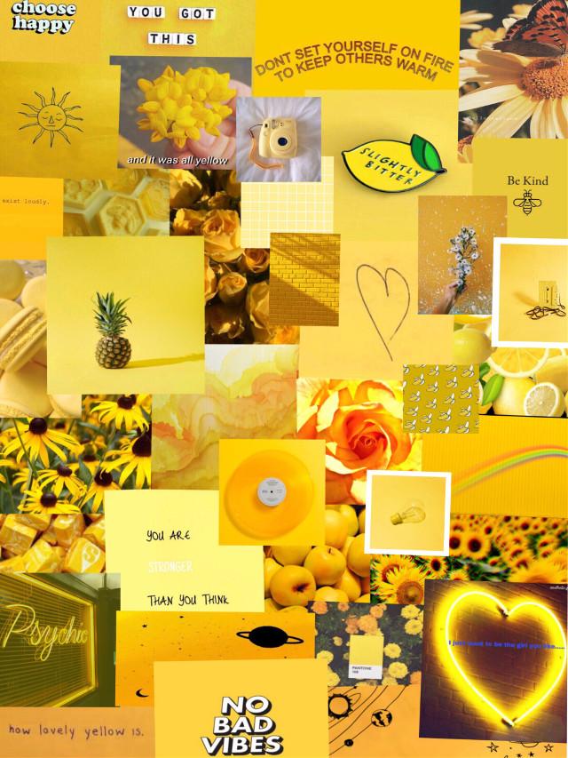 #freetoedit #yellow #aesthetic #wallpaper