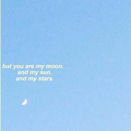 freetoedit blue babyblue aesthetic moon