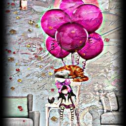 ircpinkballoon pinkballoon freetoedit pinks purples