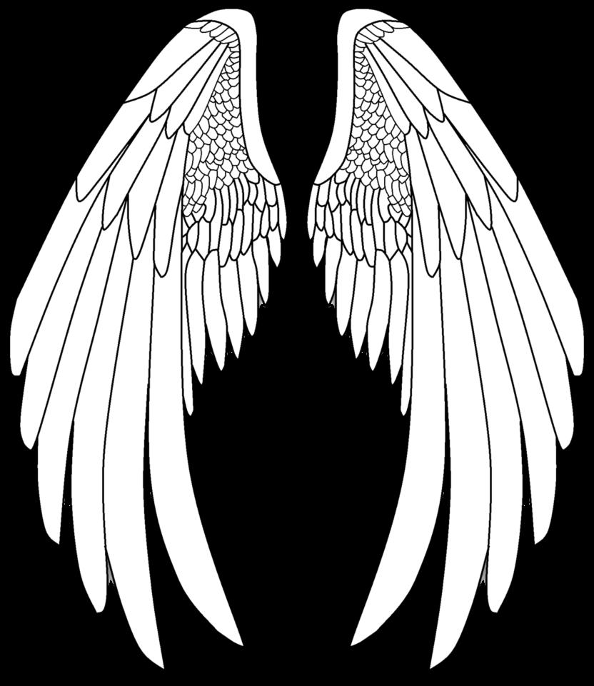 Alas Angel Blanco Sticker By Abigail
