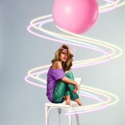 ircpinkballoon pinkballoon freetoedit retro retrogirl