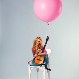 freetoedit pinkballoon girl gitar sittinggirl