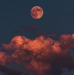 freetoedit moon bloodymoon sky clouds galaxy