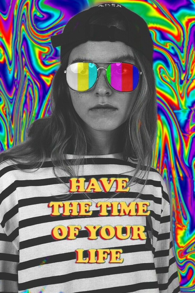 'Have the time of your life' photography edit #photography #edit #colors #model #retro #tumblr #glitch #quotes #tumblrgirl #artevisual