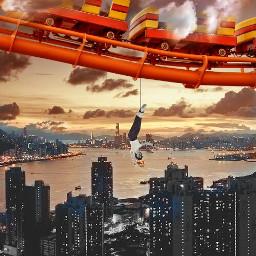freetoedit ircamusementpark rollercoaster skyscraper
