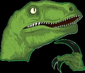 raptor thinking hmm thinkingdinosaur meme