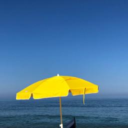 freetoedit umbrella yellow beach sea