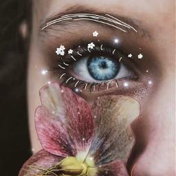 freetoedit eye draw flower