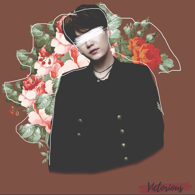 [✎] Message:        With this edit, my first collection has officially ended! I hope you like it! :)  [✎] Tags:        #suga #yoongi        #kpop #fanart        #bts #bangtansonyeodan         #flowers #flores