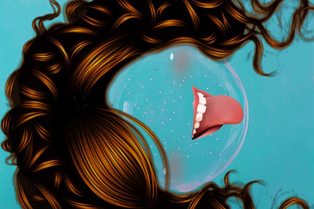 #freetoedit #bubblegirl #tongueout #curlyhair