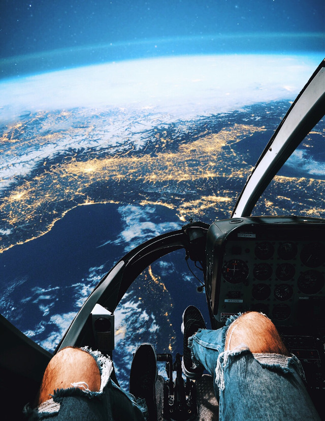 Flying over earth #imagination