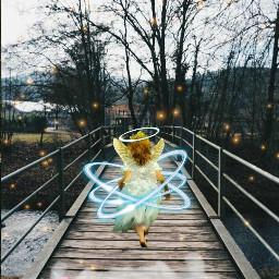 freetoedit srcbeanangelday halo angel walk