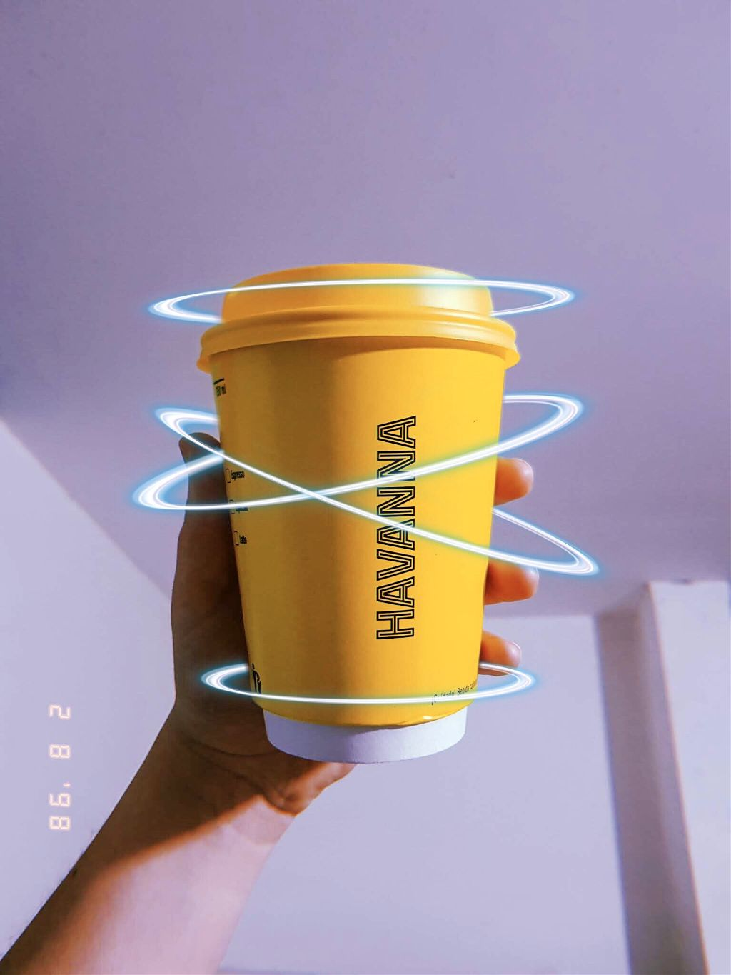 #freetoedit #cup #art #halo #yellow #shine #light