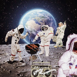lifeonthemoon austronaut earth moon grill freetoedit