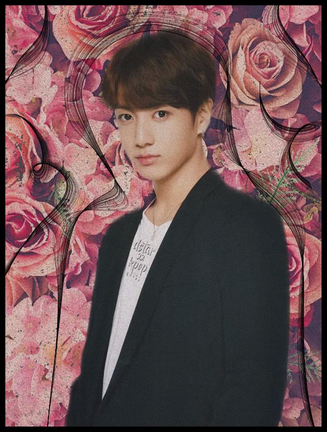 #freetoedit #jungkook #BTS #kpop #kpopidol #flowers #pink #handsome #love #ultimatebias