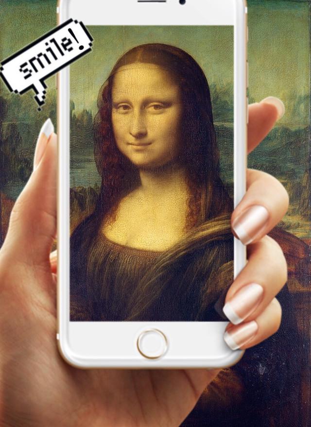 #freetoedit #gioconda #monalisa #leonardodavinci #photo #iphone #phone #camera #smile #selfie #portrait