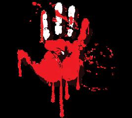 hand handprint blood horror psycho