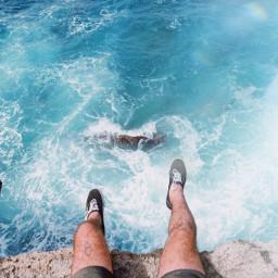 freetoedit feet sea water rock