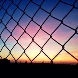 fence interesting sundown sunset beautiful