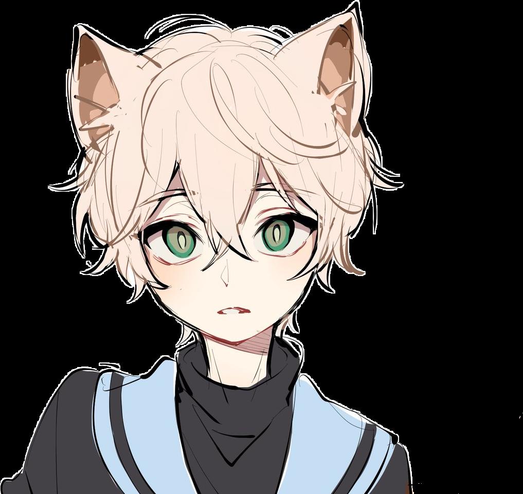 Anime Manga Art Fanart Neko Cute Kawaii Boy