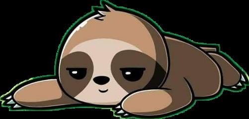 freetoedit cute kawaii lazy sloth