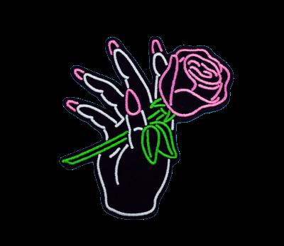 Dibujo Color Flourescent Mano Flor Rosa Pink Cool Tumbl