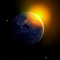 icyx objectreflection earth galaxy sun day