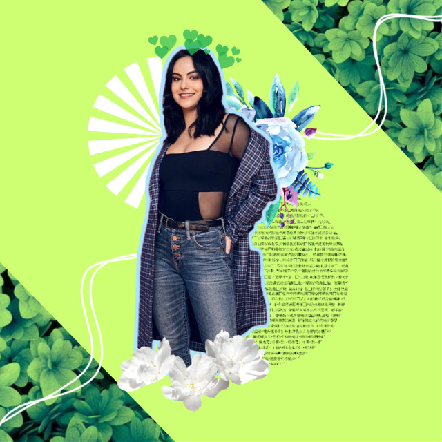 #freetoedit #camimendes #veronicalodge #camilamendes #camilamendesedit #green #aesthetic #flowers #hearts #art #actress #nature #edit #riverdale #cast