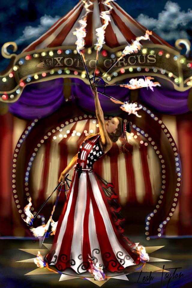 Fire Dancer  Drawing video @ https://youtu.be/U6n5O7KPiTc #circus #fire #dancer #dccircuses #circuses