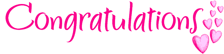 Image result for congratulations pink