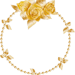 rose oses wreath gold header ftesticker