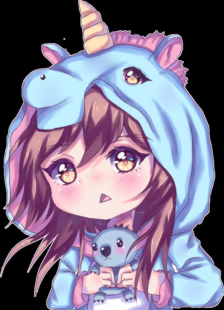 Girl girly anime kawaiianime cute unicorn pijama - Girly girl anime ...