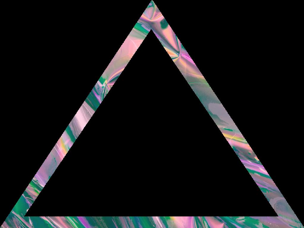 glitch aesthetic triangle transparent border frame aest...