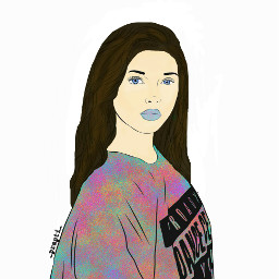 freetoedit girl colored colorful artisticpotrait