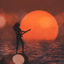 freetoedit vipshoutout shilouette sunset bokeh