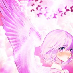 pinkangel pink angel angelwings angelsquad freetoedit