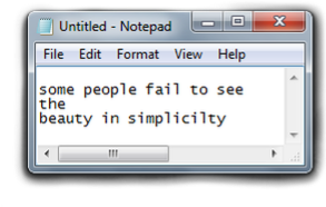 #notepad #words #simple #beauty