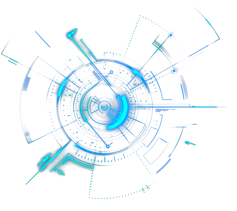 tech technology blue neon circle colorful