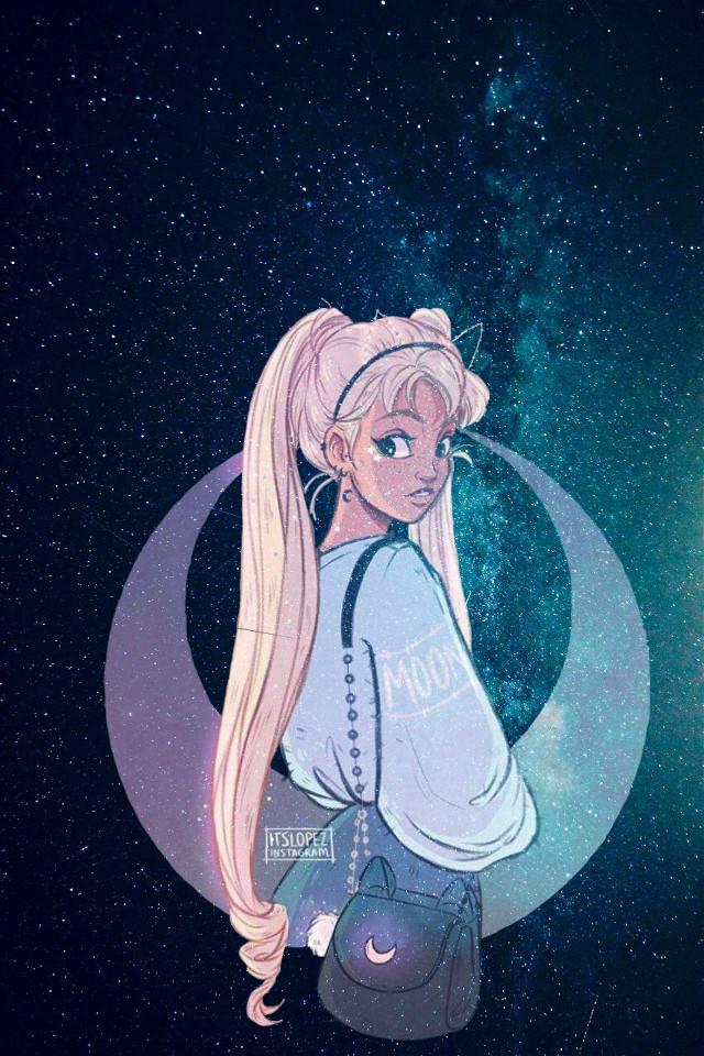 #freetoedit #stars #moon #girl #cute #nocaption #sorrynotsorry #ahhhh #ok #yeahhh
