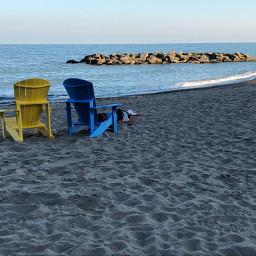 canada toronto beach sky lake freetoedit