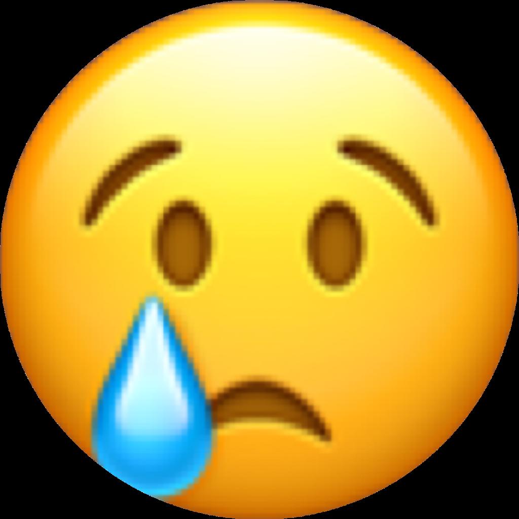 Emoji Tear Sad Ohno Yellow Blue Face Freetoedit