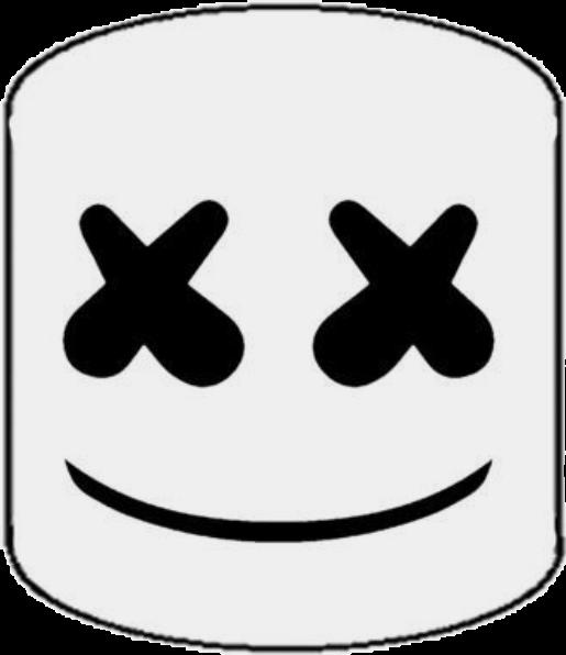 Marshmello Black White Stiker
