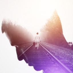 freetoedit man road way alone