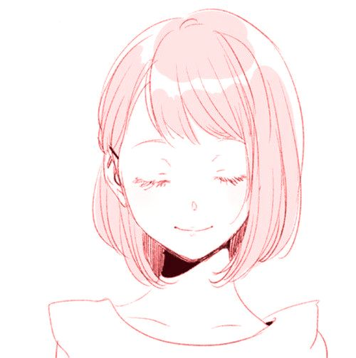 anime pink cute girl smile aesthetic art edit by sofiah...