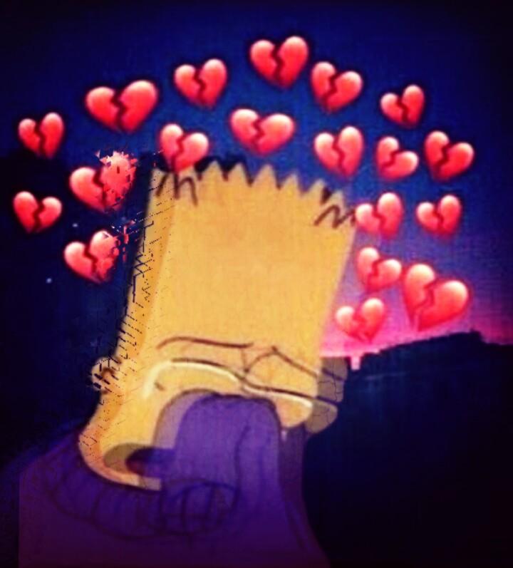 Edit Bart Simpson Sad Tumblr