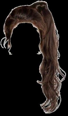 hair ponytail brunette brown brownhair freetoedit