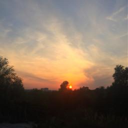 autumnsunset закат sky sun freetoedit